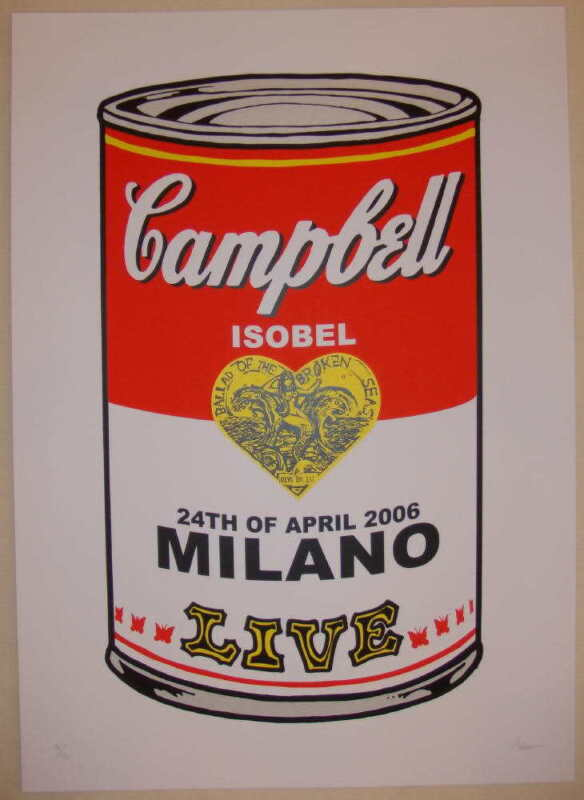 2006 Isobel Campbell - Milan Silkscreen Concert Poster by Malleus
