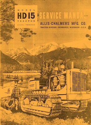 Allis Chalmers Hd15 Hd 15 Crawler Service Manual
