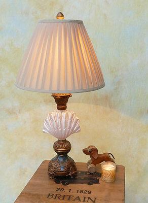 Tischlampe Lampe Stehleuchte Tischleuchte Stoffschirm Muschel Permutt PQ005-b