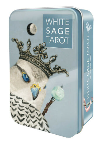 White Sage Tarot 78 Cards Deck + 64 Page Guidebook & Chakra Chart - NEW!