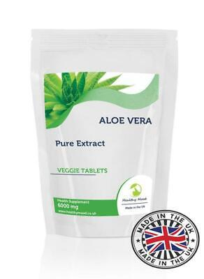 Aloe Vera Ergänzungen (Aloe Vera Extrakt 6000mg Veggie Vitamine Tabletten Ergänzungen)