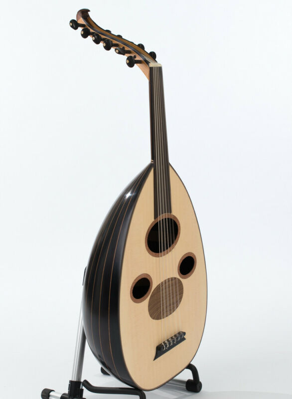 High Quality Arabic Oud Black Walnut Wood with  Pyramid Strings