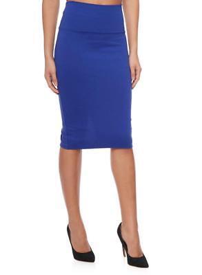 Royal Blue Skirt - Sensational Women's Royal Blue Bodycon Pencil Skirt Size S M L XL