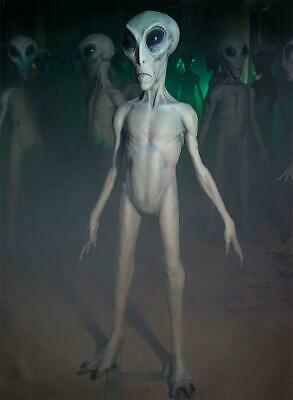 Life Size Roswell Gray Alien Standing Figurine Statue Decor 6 ft tall