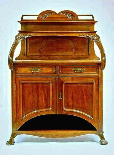 ANTIQUE - LOUIS MAJORELLE French Art Nouveau Carved Wood Server/Buffet - BEAUTY!