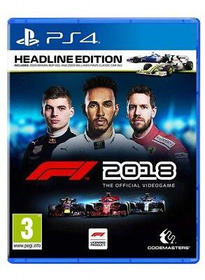 F1 2018 Headline Edition PS4 Spiel Formel 1 2018 Playstation 4 *NEU OVP*