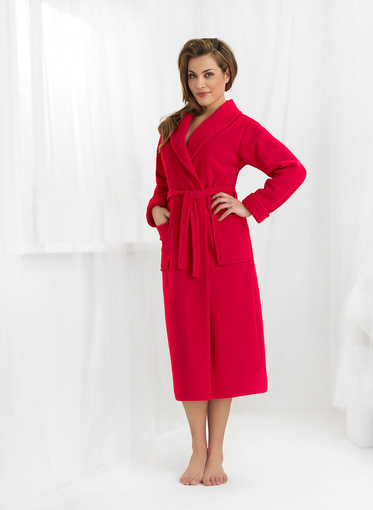 New Womens Luxury Soft Long Bathrobe Dressing Gown Housecoat UK Robe ...