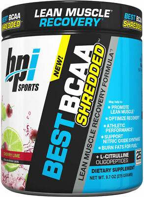 BPI Sports Best BCAA SHREDDED Post-Workout Cherry Lime (25 Servings) (Best Post Workout Powder)