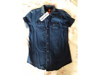Superdry denim shirt - Women's - new with tags