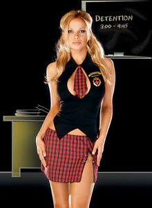 Sexy-Adult-UK-Women-Student-Costume-Uniforms-Halloween-School-Girl-Fancy-Dress