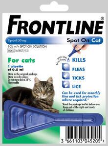 Frontline Cat Spot On Flea Treatment 1 pipette & Free Same Day Post