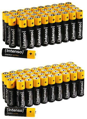 80 Intenso Energy Ultra Alkaline Batterien im 40er Shrink (40x AA + 40x AAA)
