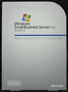 MS Windows Small Business server 2011 STANDARD w. 5 CAL's - Full Retail License