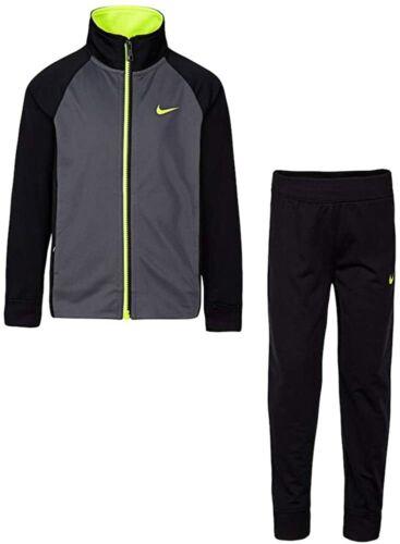 Nike Boys Futura Tricot Full Zip Track Suit Black / Volt 86E132 Size 6