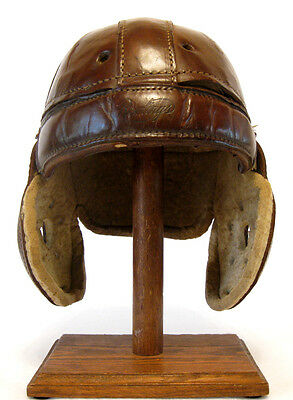Early Old Antique 1920's RAWLINGS 172X Leather Football Helmet Vintage
