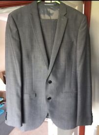 Men's Slimfit Grey Two Piece Next Suit