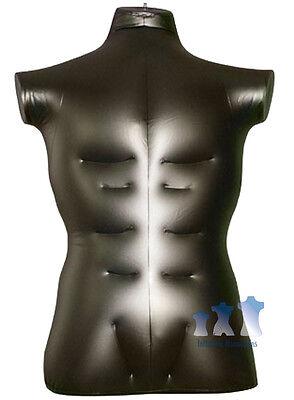Inflatable Mannequin Male Torso Large Black