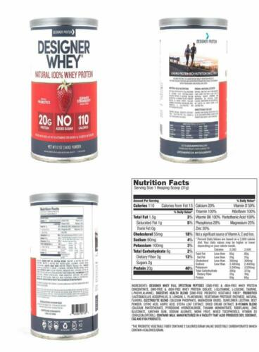 Designer Whey Protein Powder, Double Chocolate, 12 Ounce, No