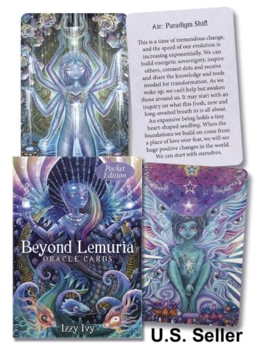 Beyond Lemuria Oracle Cards NEW Pocket Edition Izzy Ivy Free Shipping 56 Cards