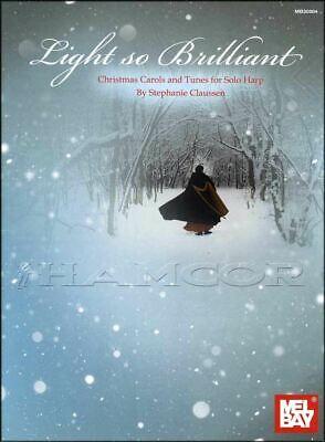 Light So Brilliant Christmas Carols for Harp Sheet Music Book SAME DAY DISPATCH