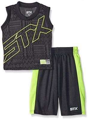 STX Boys Black & Lime 2pc Mesh Short Set Size 2T 3T 4T 4 5/6 ()