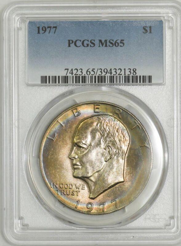 1977 Eisenhower Dollar $ Ike MS65 PCGS 942930-3