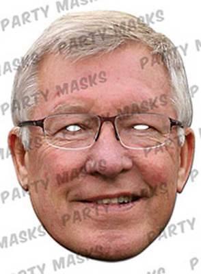 Alex Ferguson - Promi Maske - hochwertiger Glanzkarton - Promi Maske