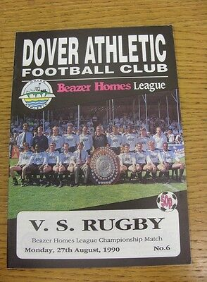 27 08 1990 Beazer Homes League Championship Match  Dover Athletic V Vs Rugby