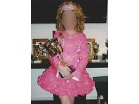 Stunning pink Irish dance dress