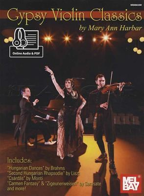 Gypsy Violin Classics Sheet Music Book with Audio Access Classical Mary -