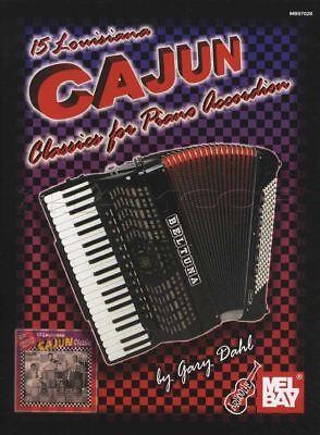 15 Louisiana Cajun Classics for Piano Accordion Sheet Music Book