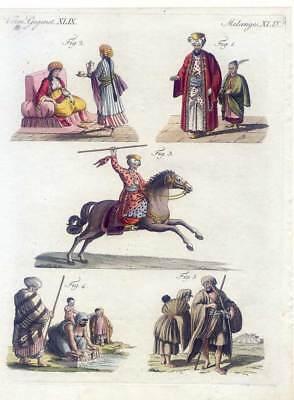 Ägypten-Ägyptische Trachten-Egypt-Ethnologie-Pferd-Sklaven-Kupfer-Bertuch (Ägypten Trachten)