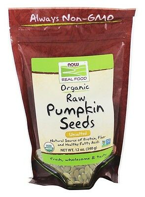 Now Foods Organic Unsalted Raw Pumpkin Seeds - 12 oz (340 g)