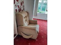 Electric recliner lift and rise armchair