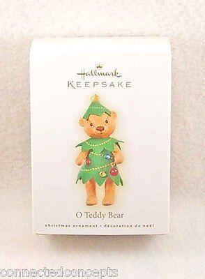 Hallmark O Teddy Bear Christmas Ornament (2009)