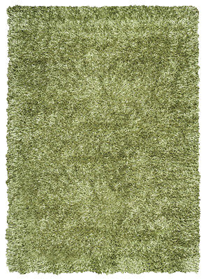 Rizzy Rugs Green Single-Color Frilles Plush Shag/Flokati Area Rug Solid KM1508 ()