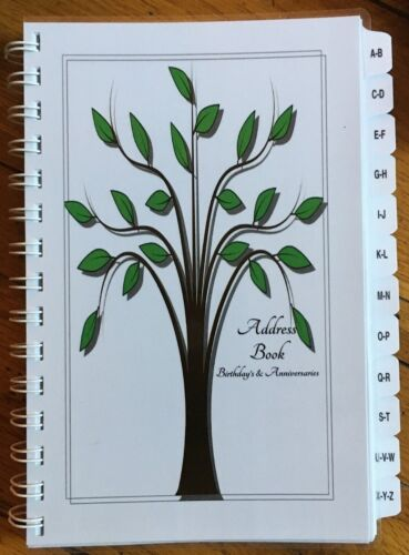 Address Book Birthday Anniversary Organizer Family Tree Record Gift