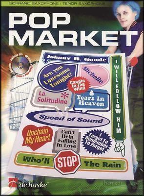 Pop Market Tenor Saxophone Sheet Music Book & Play-Along CD Pop Tenor Sheet Music
