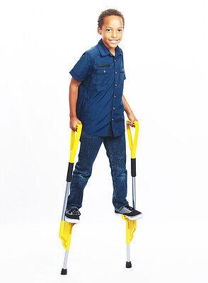 Hijax Stilts for active kids (Silver) Junior Size / Made In America (Stilts For Kids)