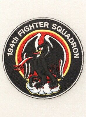 194th Fighter Squadron w/hook & loop back - USAF Air Force Patch 1157