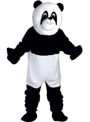 Riesen Panda Maskottchen Erwachsene Deluxe Overall Kopf Füße Hände Kostüm Outfit