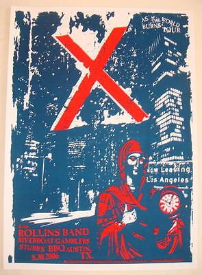 2006 X w/ Rollins Band - Austin Silkscreen Concert Poster s/n by 8ball