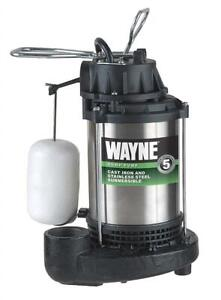 USED Wayne CDU980E 3/4 HP Submersible Cast Iron and Stainless Steel Sump Pump with Integrated Vertical Float Switch C...