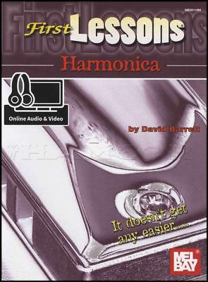 Harmonica Book Method Video - First Lessons Harmonica Sheet Music Book & Audio and Video Learn To Play Method