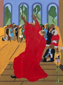 Jacob Lawrence Genesis Creation Sermon Giclee Canvas Print  Poster