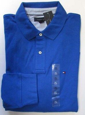 NWT Tommy Hilfiger Polo Shirt Long Sleeve Blue Size XL