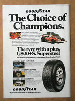 Good Year Tyres - Choice Of Champions - 1975 Original Advert Poster Free Uk P&p - champion - ebay.co.uk