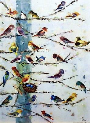 Community by Ninalee Irani Birds, Print 12X16