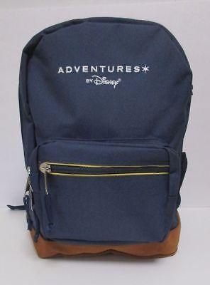 Adventures By Disney Navy Blue Backpack Suede Leather Bottom School Backpack NEW](Adventure Backpacks)