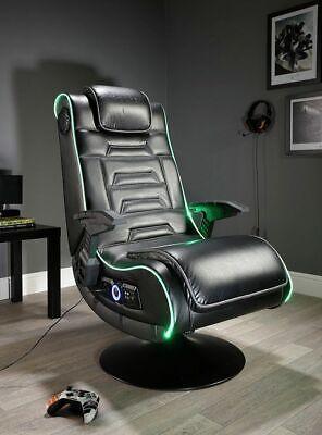 X Rocker New Evo Pro Gaming Chair LED Edge Lighting Optical USB +12yrs - EE121